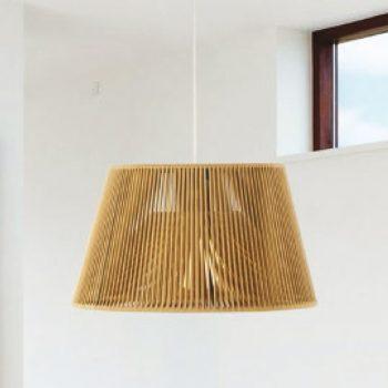084c26801 Lámpara Colgante Artesanal Cuerda Trenzada
