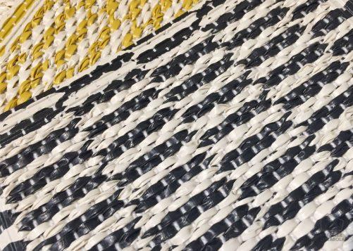 085pembel13221002 Alfombra Sintetica Nordica Geometrica Negra Blanco