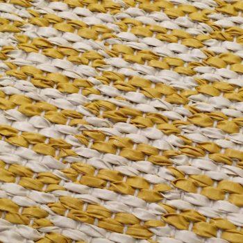 085pemsun13221003 Alfombra Sintetica Nordica Geometrica Amarilla Blanco