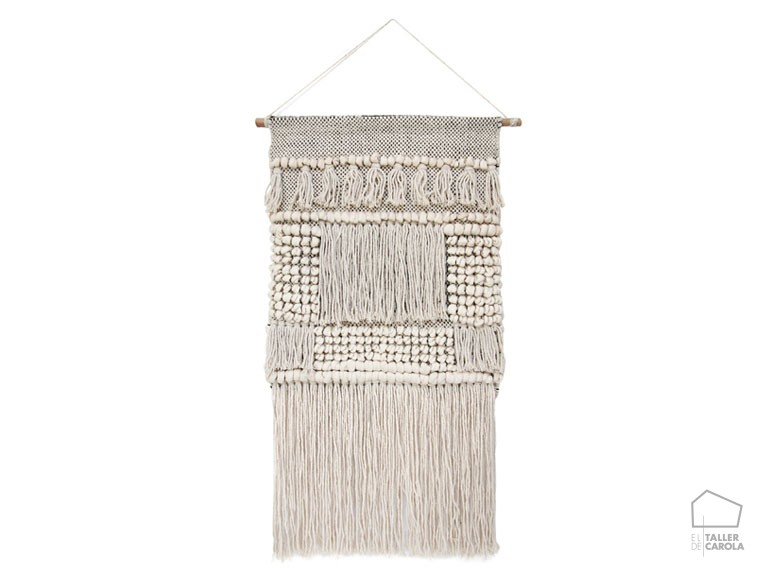 086tot4001 Panel Macrame Decoración Vertical