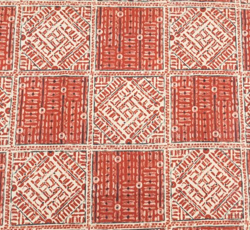 092eth_kal_tf1229_001_150 Tela Étnica Estampado Geométrico Rojo