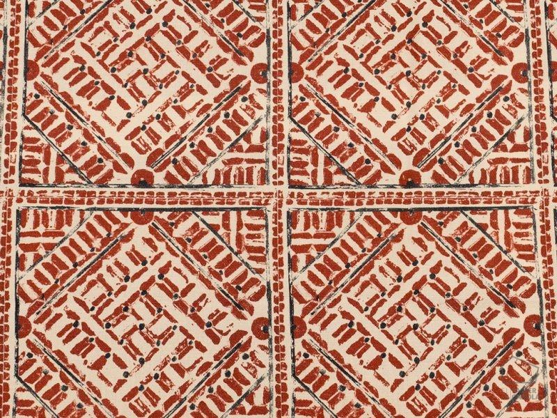 092eth_kum_tf1230_001_150 Tela Étnica Estampado Geométrico Rojo