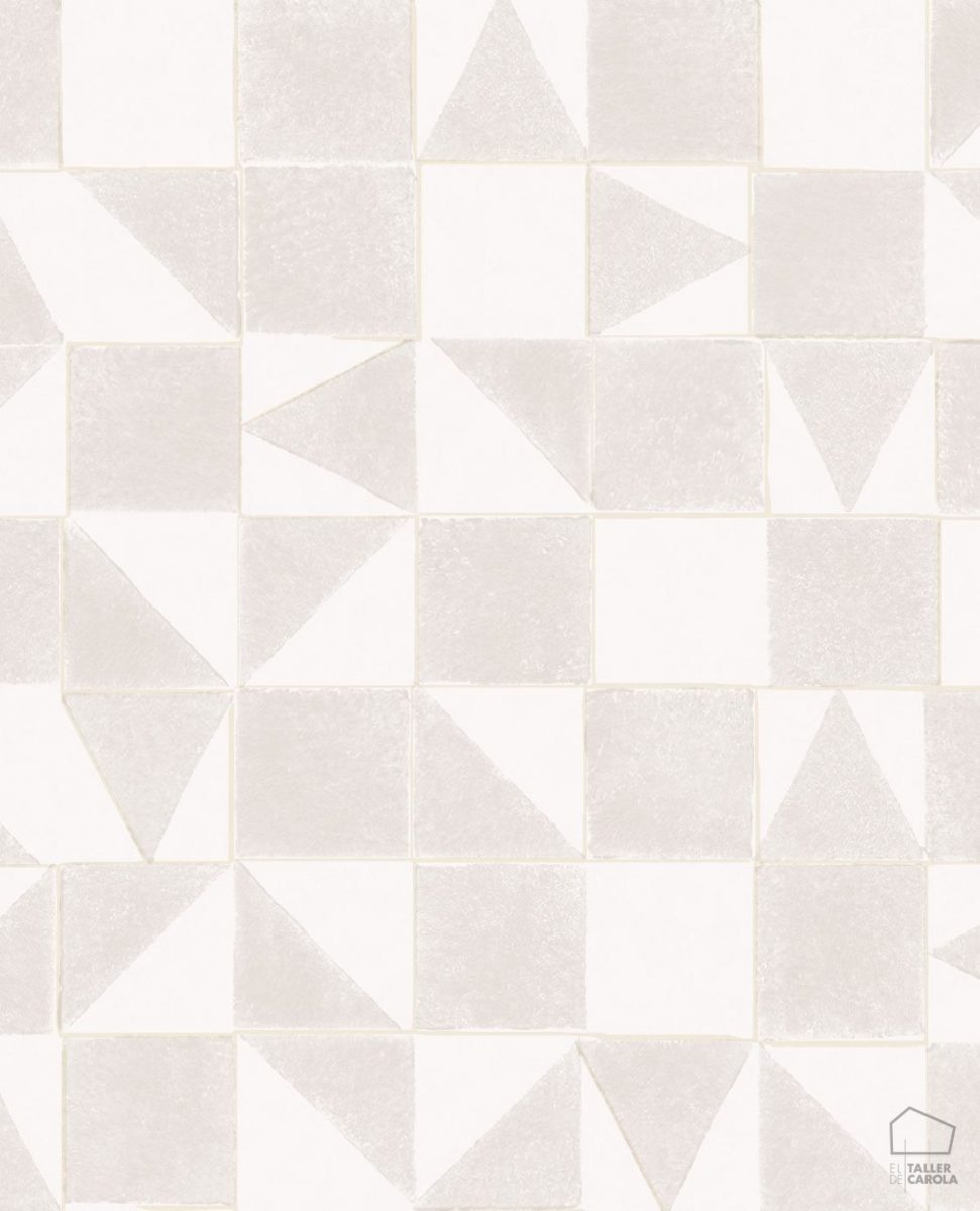 Papel Pintado MIN Geométrico Beige