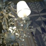 Lámpara de techo con lágrimas cristal, modelo Miguel Angel