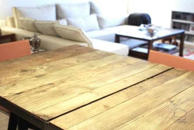 Mesa estilo industrial extensible, decoración en Valencia