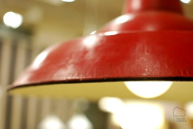 058102058R Lámpara estilo Industrial Roja ( d53xh35 )