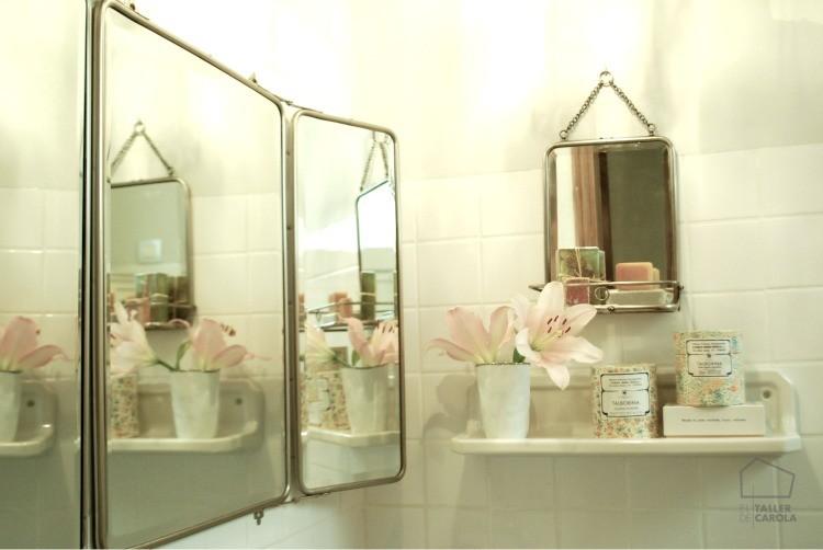 Espejos de estilo vintage ba os con decoraci n vintage for Espejos pequenos vintage