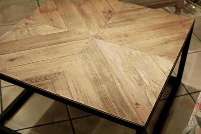 Mesa de centro madera pino envejecido y - Tinte para madera casero ...