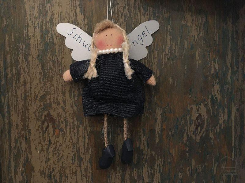Adorno Navidad Angel Tela