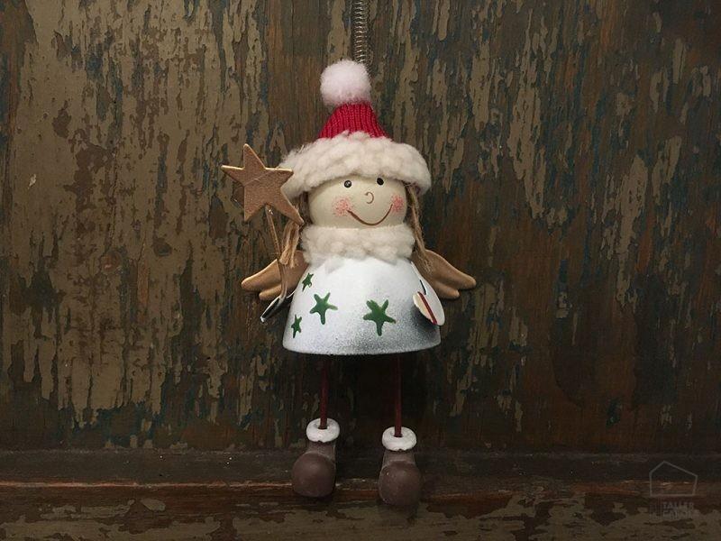 Adorno Navidad Angel Hojalata