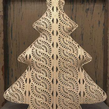 Adorno Navidad Árboles Calados Metal