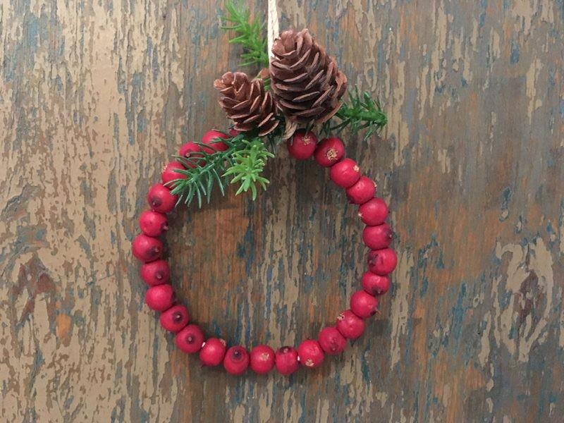 Adorno Navidad Corona Roja