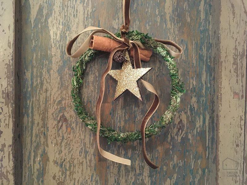 Adorno Navidad con Estrella Purpurina