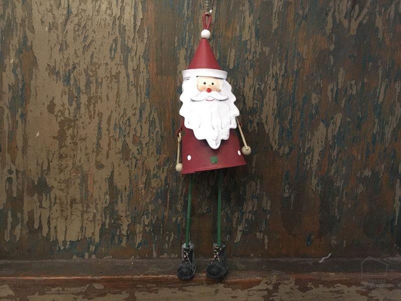 Adorno Navidad Papa Noel Hojalata