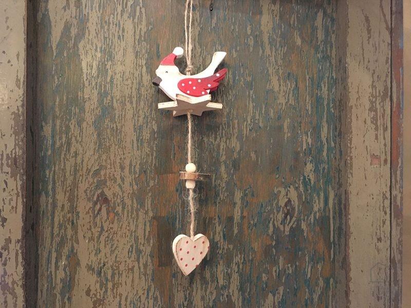Adorno Navidad Madera Pájaro