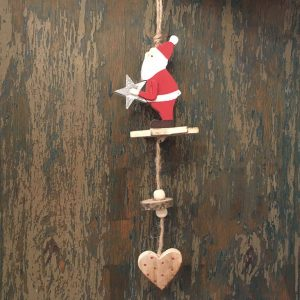 Adorno Madera Papa Noel