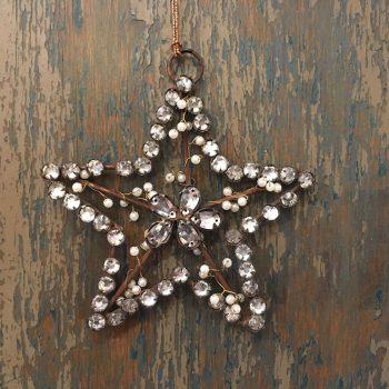 Adorno Navidad Estrella strass