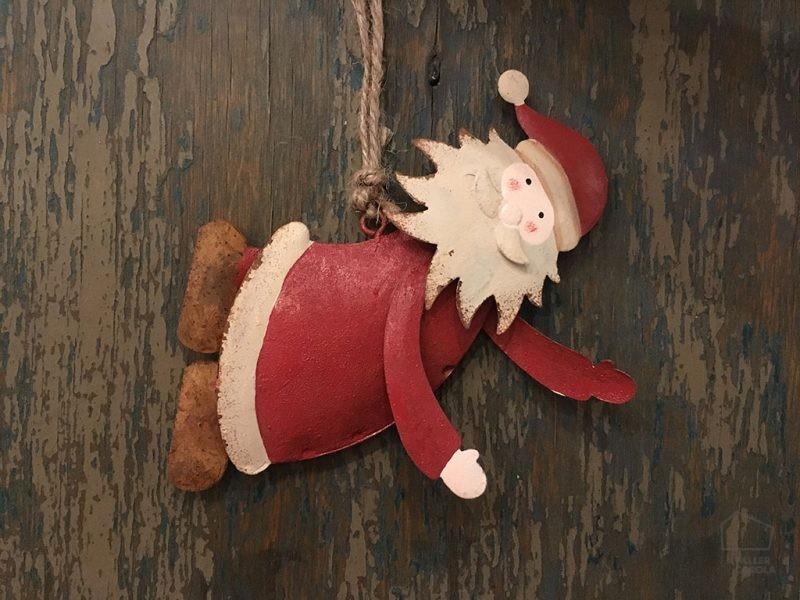 Adorno Navidad Papa Noel Metal