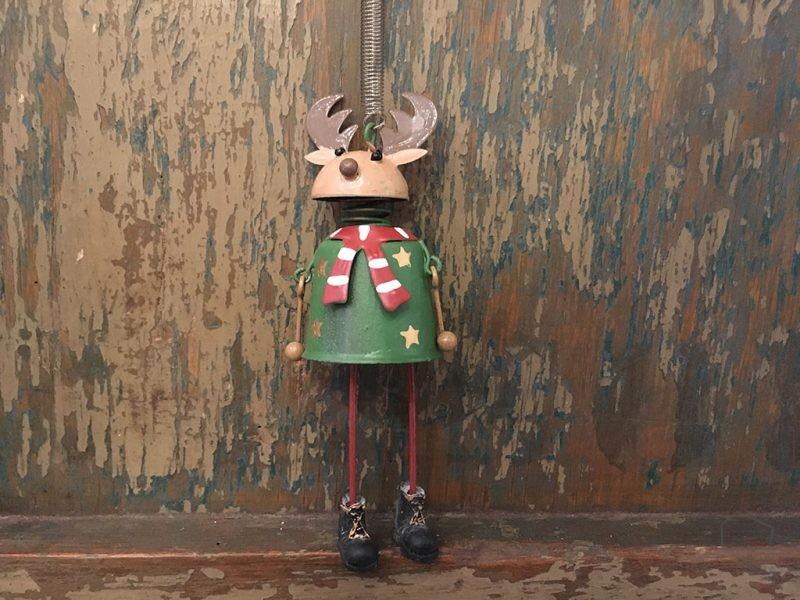 Adorno Navidad Reno Hojalata