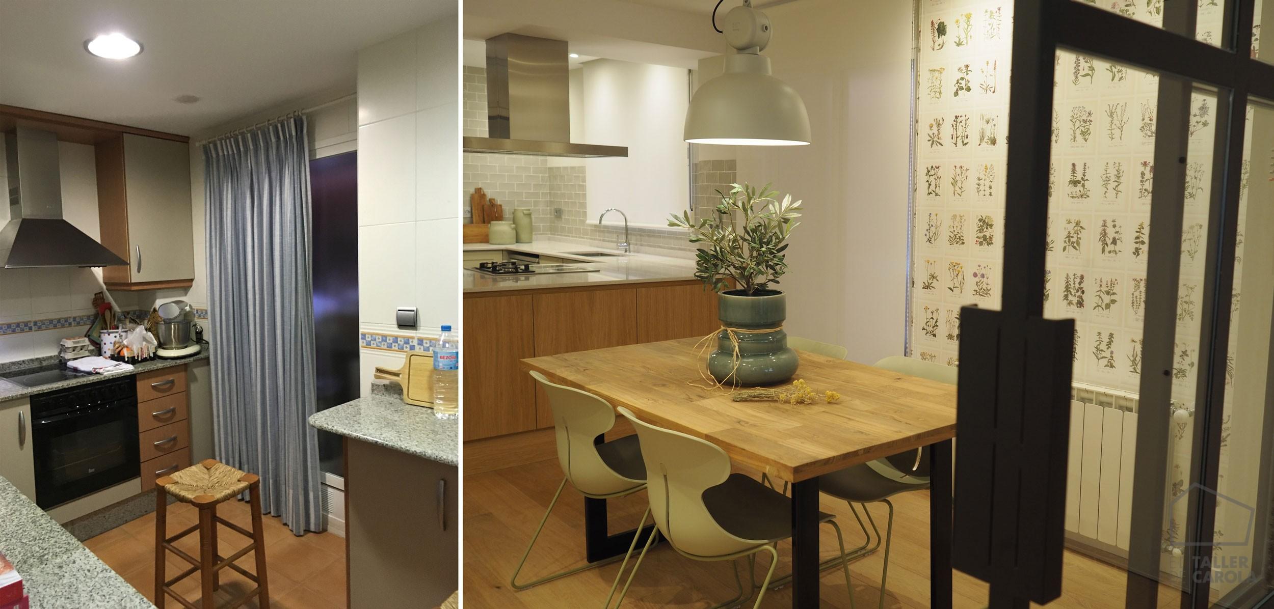 Increíble Antes Y Después De Las Imágenes De Muebles De Cocina ...