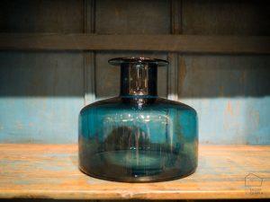 Botella de Cristal Azul