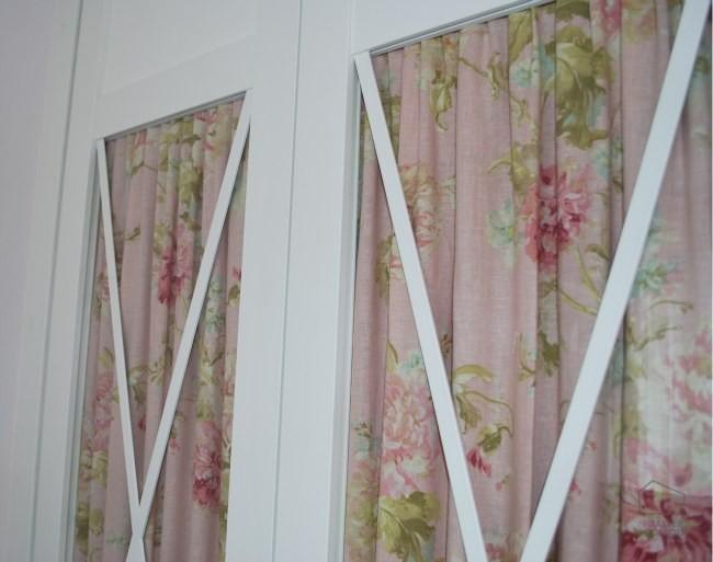 Cortinas telas flores el taller de carola el taller de - Telas opacas para cortinas ...