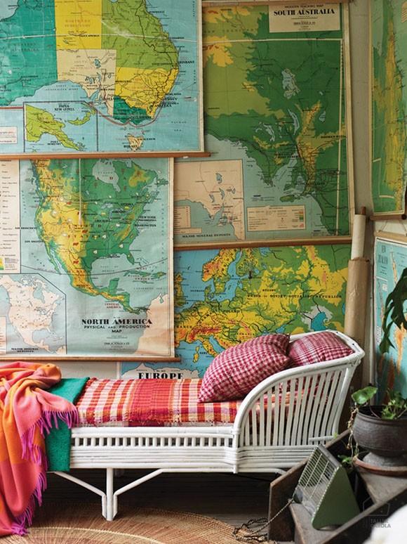 Papel Pintado Mapas