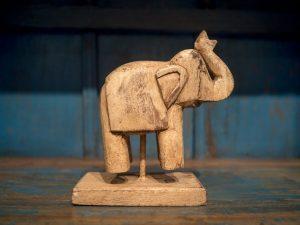 Elephant Wood Decoration