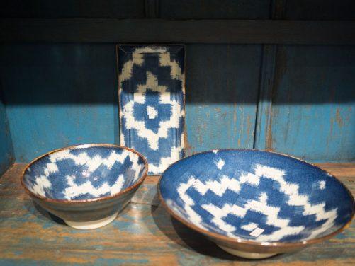 Juego Ceramica Japon Azul