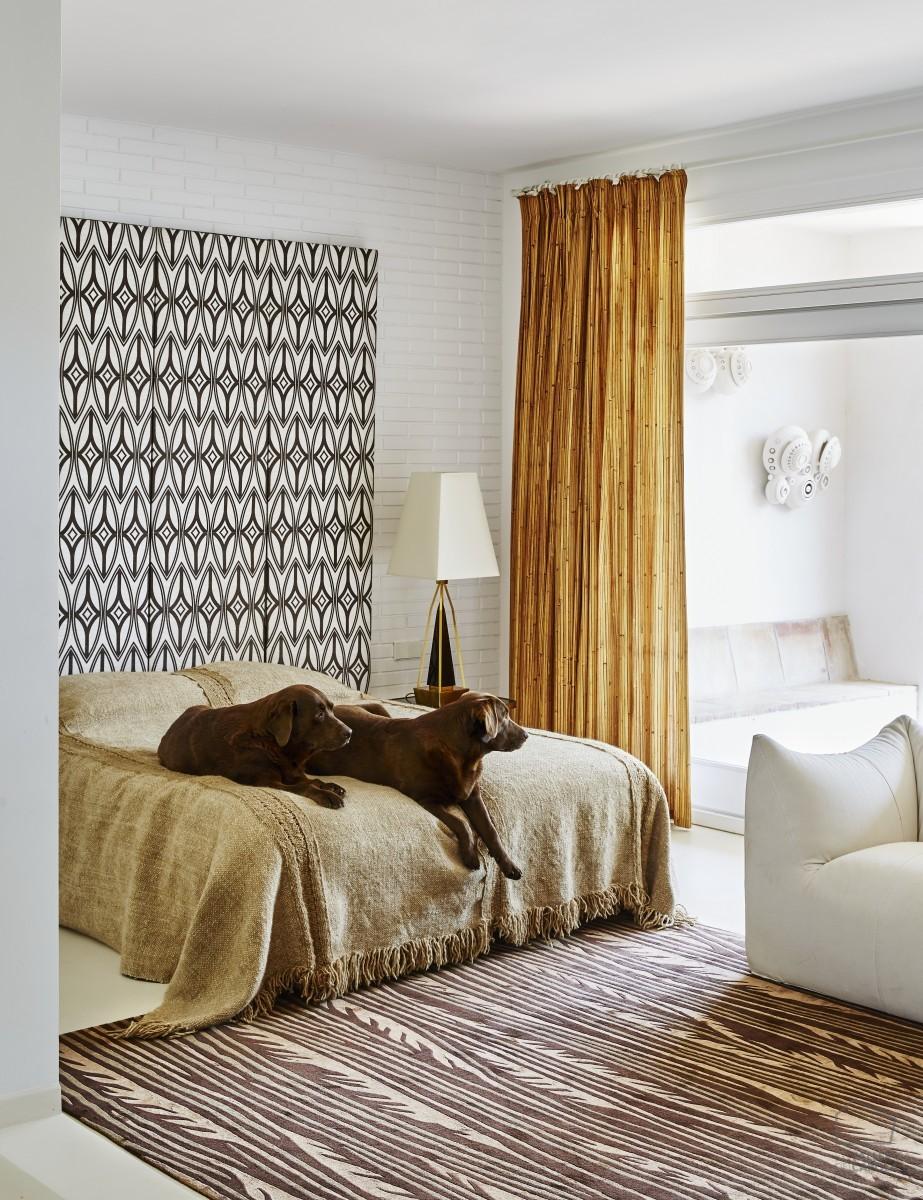 Tela bambú, cortinas