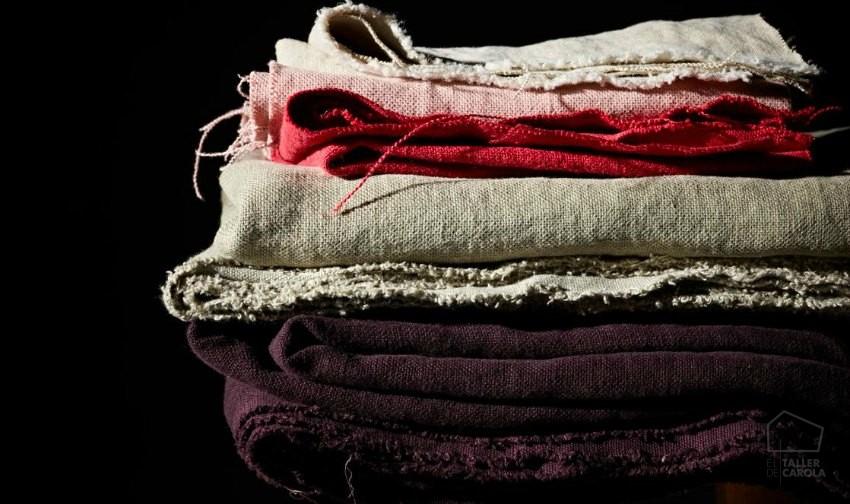 Telas lisas para tapizar, colores y texturas
